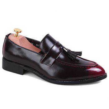 Fashion Tassels and PU Leather Design Formal Shoes For Men