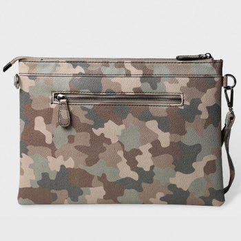 Vintage Rivets and Camouflage Design Clutch Bag For Men - ARMY GREEN