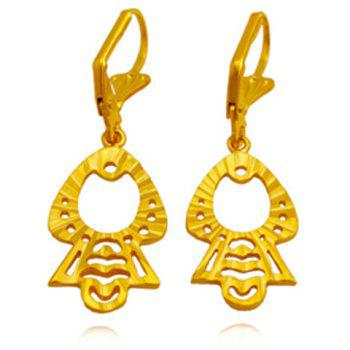 Pair of Hollow Out Figure Shape Earrings