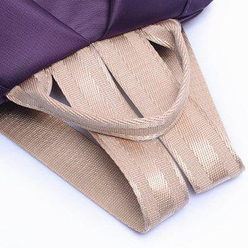 Simple Solid Color and Zippers Design Satchel For Women - PURPLE