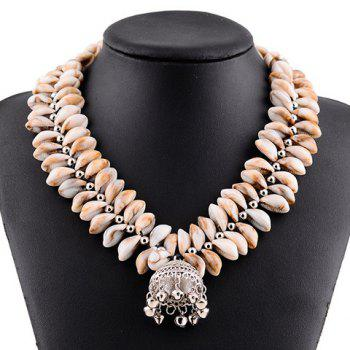 Charming Bell Shape Pendant Shells Necklace For Women