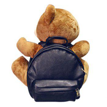 Cute PU Leather and Bear Cub Design Satchel For Women