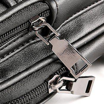 Trendy Rivets and Zipper Design Messenger Bag For Men -  BLACK