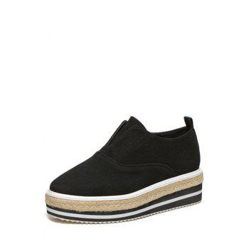 Concise Stitching and Weaving Design Women's Platform Shoes - 37 37