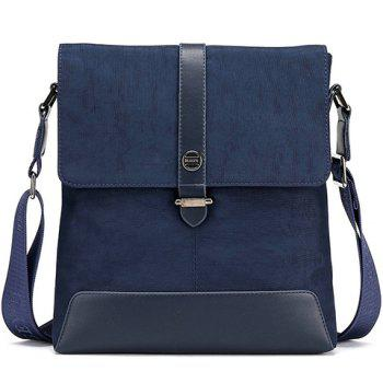 Simple PU Leather and Solid Colour Design Messenger Bag For Men