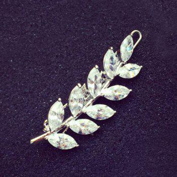 Chic Rhinestone Leaf Shape Hairpin For Women