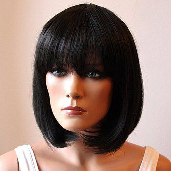 Fashion Medium Synthetic Assorted Color Bob Style Straight Full Bang Cosplay Wig For Women