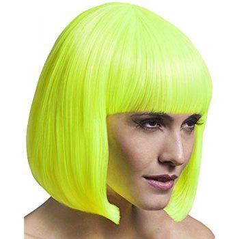 Bob Style Synthetic Assorted Color Gorgeous Short Straight Universal Cosplay Wig For Women