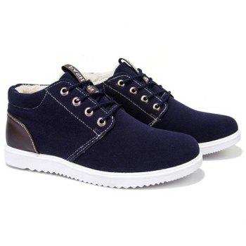 Trendy Lacing and Suede Design Men's Casual Shoes - 41 41