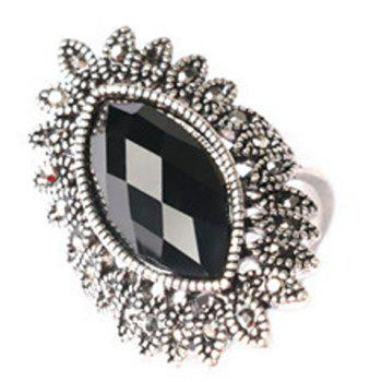 Chic Faux Gemstone Oval Ring For Men - ONE-SIZE ONE-SIZE