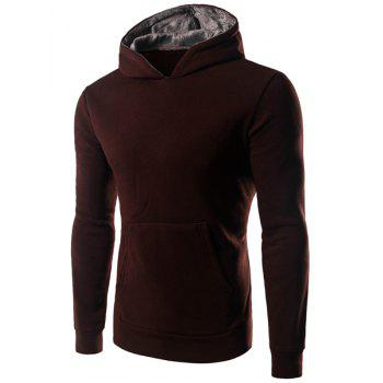 Pullover Solid Color Long Sleeve Hoodie