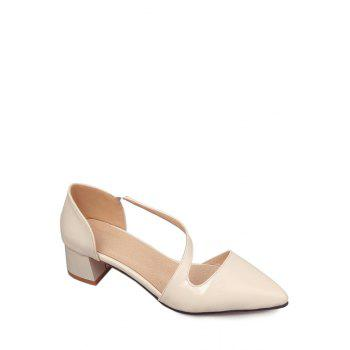 Trendy Strap and Pointed Toe Design Women's Pumps - OFF-WHITE 37