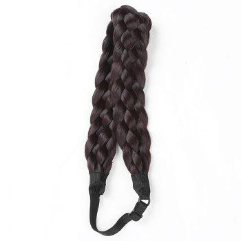 Charming Long High Temperature Fiber Braided Hair Extensions For Women - BLACK 4A# BLACK A