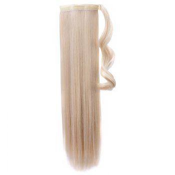 Trendy High Temperature Fiber Long Straight Ponytail For Women - PALE BLONDE  613/60# PALE BLONDE /