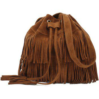 Fashionable String and Tassels Design Shoulder Bag For Women