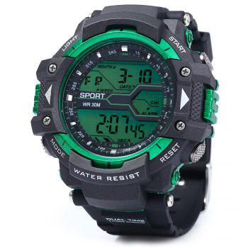 8338G Alarm Day Date Stopwatch Display Men LED Sports Watch - GOLDEN