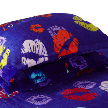 A Pair of High Quality Lips Pattern Polyester Pillow Case(Without Pillow Inner)