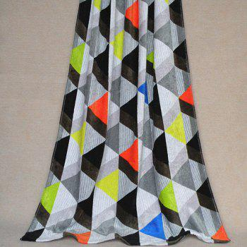 Classic Exquisite Soft Cotton Colorful Triangle Pattern Beach Towel