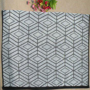 Chic Quality Soft Cotton Rhombus Pattern Strong Water Absorption Bath Towels -  GRAY