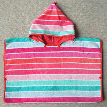 High Quality Soft Cotton Colorful Stripe Pattern Hooded Towels -  COLORMIX