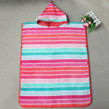 High Quality Soft Cotton Colorful Stripe Pattern Hooded Towels - COLORMIX COLORMIX