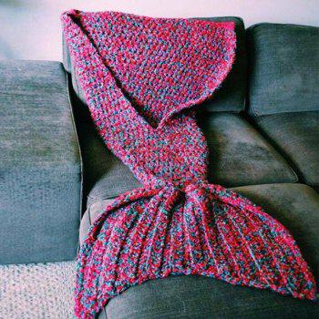 Stylish Artist Playfully Redesigns Cozy Blankets As Crocheted Mermaid Tails - RED W15.75INCH*L35.43INCH