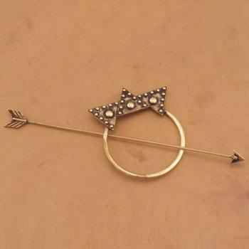 Delicate Arrow Shape Triangle Hairpin For Women - BRONZE-COLORED BRONZE COLORED