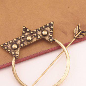 Delicate Arrow Shape Triangle Hairpin For Women -  BRONZE COLORED