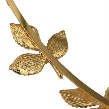 Charming Solid Color Leaf Hairband For Women - GOLDEN