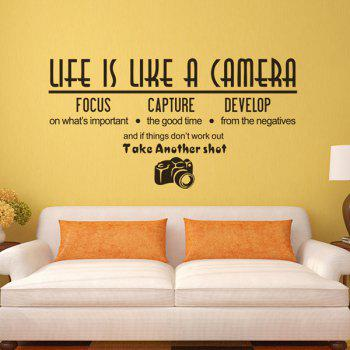 High Quality Letter Shape Removeable Waterproof Background Wall Sticker - BLACK