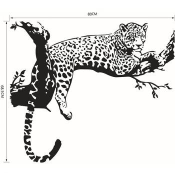High Quality Tiger Shape Removeable Waterproof Background Wall Sticker - BLACK