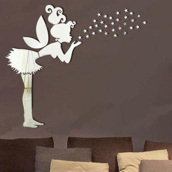 High Quality Removeable Fairy Shape DIY 3D Background Mirror Effect Wall Sticker