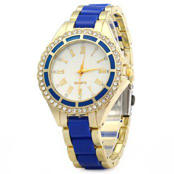 Women Marble Mirror Quartz Watch Roman Calibration Set Auger Leisure Style