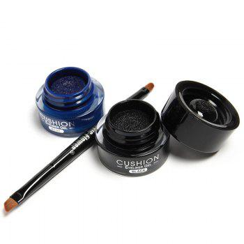 2 Pcs Waterproof Liquid Eyeliner Gel with Double-End Brush