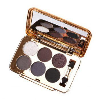 Professional 6 Colours Pearl Matte Eyeshadow Palette with Mirror and Brush