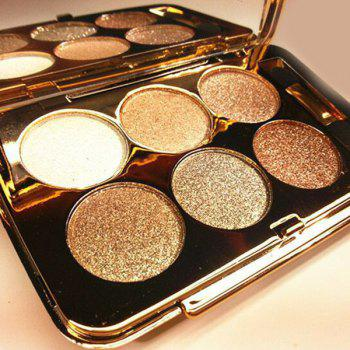 Professional 6 Colours Diamond Eyeshadow Palette with Mirror and Brush