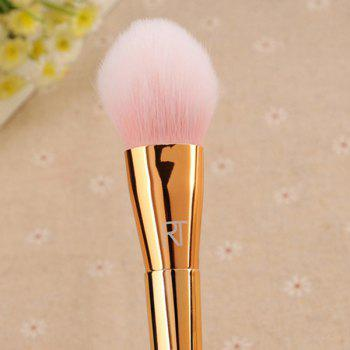 Cosmetic 3 Pcs Metal Handle Makeup Brushes Set with Box - SILVER/GOLDEN