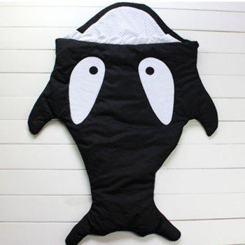 Creative Thicken Shark Blanket For Kids - BLACK