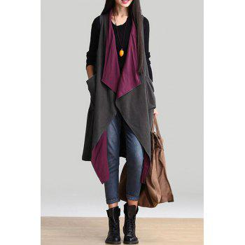 Stylish Turn Down Collar Double-Faced Women's Long Waistcoat