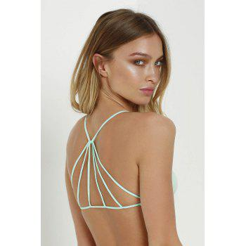 Sexy Style Spaghetti Strap Cross Solid Color Tube Top For Women