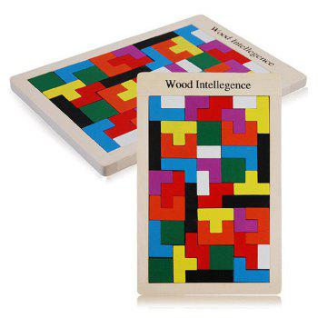 ST0629 Tetris Classic Table Game Wooden Intelligent Block
