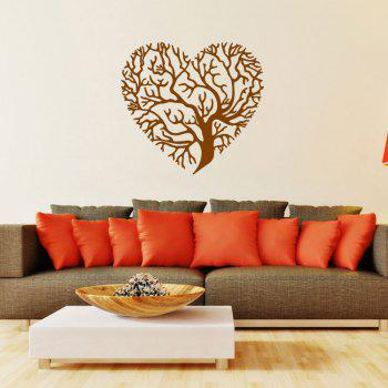 Brown Love Tree Style Creative Wall Sticker Removable Wallpaper Water Resistant Home Art Decals