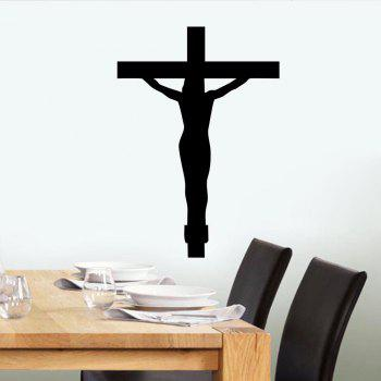 Jesus Cross Style Removable PVC Wall Stickers Water Resistant Home Art Decals