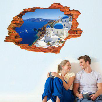 3D Love Sea Style Removable PVC Wall Stickers Water Resistant Home Art Decals