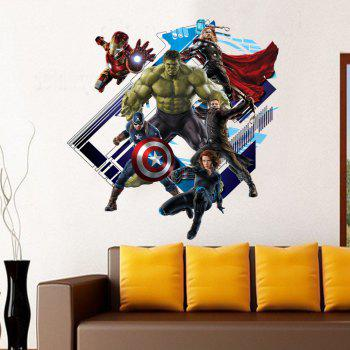 Creative 3D New Revenge Alliance Style Removable PVC Wall Stickers Water Resistant Home Art Decals