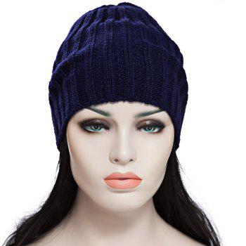 Han Edition Trendy Solid Color Elastic Knitted Cap