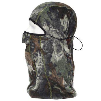 ENKAY Bionic Camouflage Pattern Mask Windproof Warm Fleece Made - SAGE GREEN SAGE GREEN