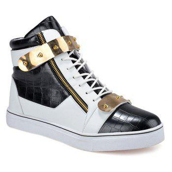 Fashion Color Block and Metal Design Casual Shoes For Men