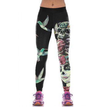 Stylish Bird Print Narrow Feet Women's Leggings