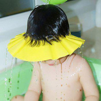 Chic Quality Adjustable Thicken Yellow Baby Shampoo Cap - YELLOW YELLOW